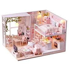 Miniature dollhouse furniture Bathroom Spilay Diy Miniature Dollhouse Wooden Furniture Kithandmade Mini Modern Apartment Model With Dust Cover Amazoncom Amazoncom Spilay Diy Miniature Dollhouse Wooden Furniture Kit