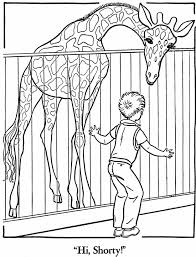 Small Picture Zoo animal coloring page Giraffe Exhibit gifties Pinterest