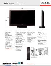 hitachi ultravision plasma tv. hitachi p50a402 - 50\ ultravision plasma tv