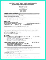 Resume Template For College Students Sample Templates High Senior