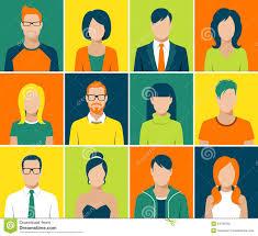 Face Design App Flat Avatar App Icons Set User Face People Vector Stock