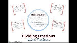 Kindergarten Dividing Fraction Word Problems YouTube Division ...
