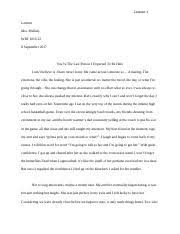 mla format of an essay descriptive essay mla format 1 name name professor bowers