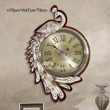 peacock wall clock art deco 19 15 inch