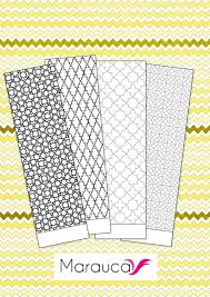 4 Bookmarks Coloring Pages Printable Moroccan Mosaic Islamic Art
