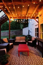 outside patio lighting ideas. idea for under deck outdoor patio at new house 2 rugs put together to outside lighting ideas