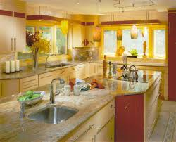 decorating ideas deep kitchen fetching images of blue and yellow kitchen design and decoration ideas