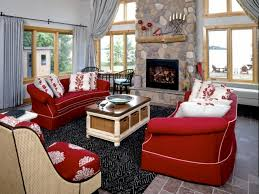 Red And Gray Living Room Curtain Ideas With Red Sofa Red Couch Living Room Ideas Cool Gray