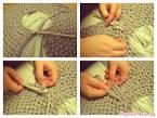 Как связать пуфик на спицах