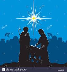 Die Geburt Von Jesus Joseph Maria Und Das Kind In