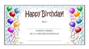 Free Birthday Gift Certificate Templates Certificate