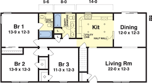 One Story Bedroom House Plans   Irynanikitinska comWonderful One Story Bedroom House Plans    Bedroom One Story House Plans