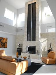 Example of a trendy ceramic floor and white floor living room design in San  Francisco with