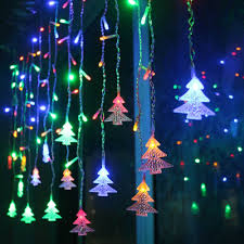 Us 8 76 51 Off Christmas Garland Led Curtain Icicle String Light 220v 4 5m 100leds Indoor Drop Led Party Garden Stage Outdoor Decorative Light In