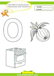 letter o worksheets and coloring pages