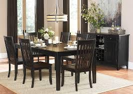 three falls 78 5 piece dark brown black rectangular dining table set w 4 side chairs
