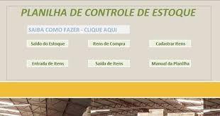 Planilhas De Controle De Estoque Fazer Uma Planilha De Controle De Estoque Passo A Passo