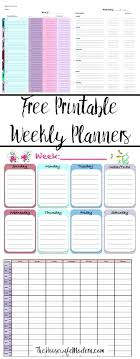 Horizontal Weekly Planner Template Free Printable Weekly Planners 5 Different Designs For Whatever Your