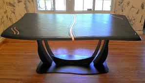 Inlaid Dining Table Buy A Handmade Brazilian Slate Dining Table With Copper Inlay