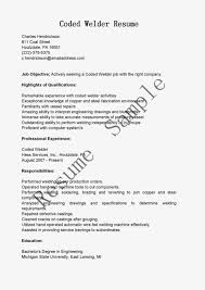 Cover Letter Welder Resume Template Welder Resume Sample Doc