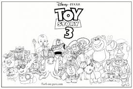 Small Picture Toy Story 3 characters kids coloring pages Printable Coloring
