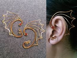 dragon wings earcuff wire wrapping jewelry tutorial 242
