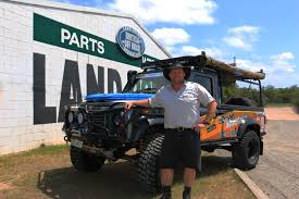 jamie with the offroad adventure show landy outside our