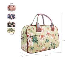 Designer Weekend Bags Womens Details About Womens Large Weekend Bag Ladies Floral Overnight Bag Girls Designer Style Bag