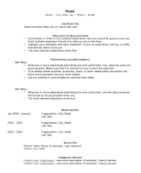 Funcational Resume Template