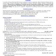 Resume Software Skills Inspire Summary And Technical Skills And Software Consulting Chef 75