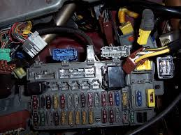 how to remove the key in ignition headlights on warning beeper gently rotate the fuse box around to you can gain access to the back of it remove the connector shown on the far left of the picture below