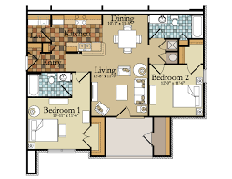 Plan Of Two Bed Room - Home Design