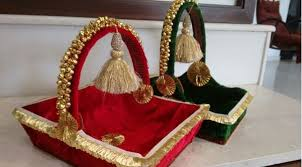 Saree Tray Decoration Beautiful Saree Packing Styles Saree Guide 12