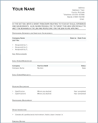 Free Fill In The Blank Resume Templates Mesmerizing Resume Blank Templates Free Blank Resume Templates To Print