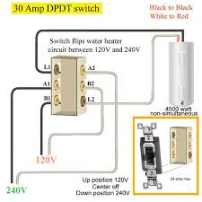 how to wire water heater two switches 30 amp dpdt switch