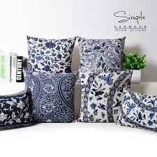 oriental throw pillows.  Pillows Oriental Floral Cushion Cover Blue White Chinese Style Throw Lumbar Pillow  Case Sham Linen Decorative Country To Pillows K