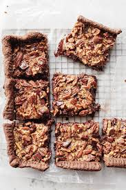 chocolate pecan pie bars. Interesting Pie With A Chocolate Crust And Plenty Of Chopped Bittersweet Chocolate These  Bars Are The Perfect Treat For Any Pecan Lover Throughout Chocolate Pecan Pie Bars