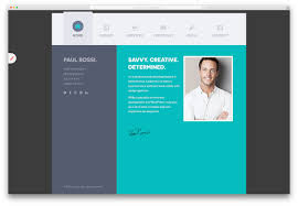Template 30 Best Vcard Wordpress Themes 2018 For Your Online Resume