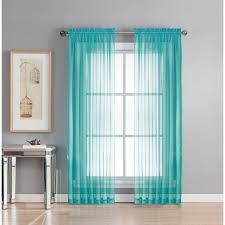 window elements sheer diamond sheer turquoise rod pocket extra wide curtain panel 56 in
