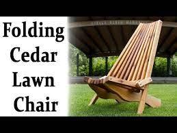 how to make a folding cedar lawn chair