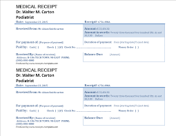 Free Example Of Medical Receipt Template | Templates At ...