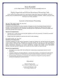 clerk resume samples objective  seangarrette coclerk resume samples