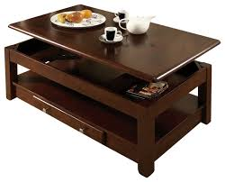 innovative creation dark wood coffee tables liftable openable with storage