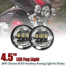 4 1 2 Inch Led Driving Lights 4 5inch Cree Led Motorcycle Fog Light Kit Work Driving Lamp 4 1 2 Chrome Led Auxiliary Spot Fog Passing Lamp For Harley Motorcycle