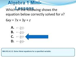 which of the following shows the equation below correctly solved for x