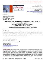 SMOKING GUN DOCUMENT - Judge Anita Brody Letter of September 1, 2005 ...