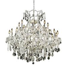 luminous lighting maria theresa 36 in 24 light chrome candle chandelier