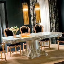 classic dining table crystal rectangular for hotels apollonia