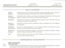 Skills Section On A Resume Free Resume Example And Writing Download