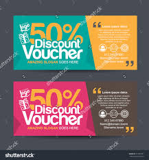 discount voucher template colorful patterncute gift stock vector discount voucher template colorful pattern cute gift voucher certificate coupon design template collection